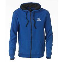 Subaru Logo BLUE Full Zip Fleece Hoodie Wrx Sti Ascent Forester Outback Legacy