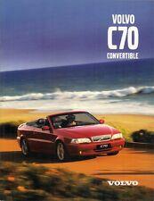 Volvo C70 Convertible 1999-2000 UK Market Sales Brochure 2.0 LPT 2.4 LPT 2.0T T5