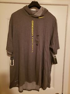 Nike Men's 4xl Short Sleeve OREGON Football Hooded Tee T-Shirt AO5834 071