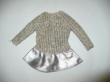 Vintage Mattel Barbie Salute To Silver Metallic Dress Tlc