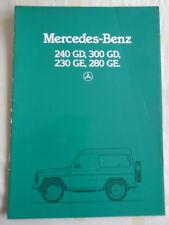 MERCEDES 240 GD, 300, 230 GD GE & 280 GE BROCHURE Oct 1984 testo olandese?