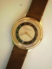 IWC big and slim men's swiss gold 14K. two-color dial cal.61 vintage wrist watch