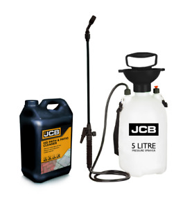 JCB Path and Patio Cleaner 5L  Concentrate plus Heavy Duty 5L Pressure Sprayer