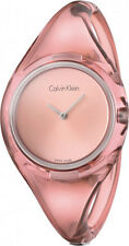 Women's Pink Calvin Klein ck Pure Plastic Small Watch K4W2SXZ6