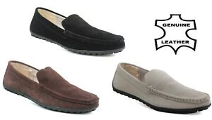 Mens Slip on Suede Leather Loafer Casual Driving Smart Moccasin Shoes Size 6-11