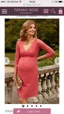 Tiffany Rose Maternity Coral Lace Chloe Occasion Dress Size 4