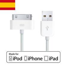 Cable Cargador USB 2.0 y de datos blanco para iPhone, iPod, iPad