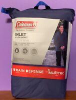 Coleman INLET Nylon Jacket Rain Defense Coat Men Waterproof Breathable XL or 2XL