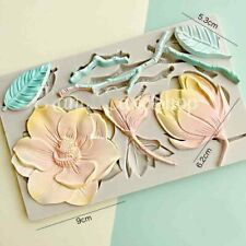 Flowers Silicone Mould Cake Decorating Gum Paste Topper Leaves Leaf Craft Mold