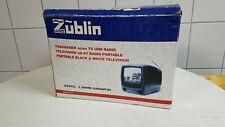 Tragbarer Fernseher mit Radio - Züblin - schwarz/weiß - noch originalverpackt