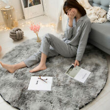 Modern Shaggy Rug Fluffy Soft Round Area Rugs Carpet for Living Room Bedroom