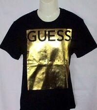 MENS GUESS BLACK/GOLD T-SHIRT SIZE L