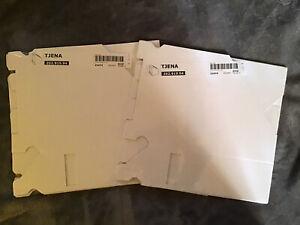 2 Packs Ikea Tjena Magazine Holders White NEW 4 Total 202.919.94
