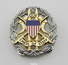 US JOINT CHIEFS OF STAFF IDENTIFICATION  BADGE with gift box-Ancient silver