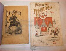 GIOSTRE GIOCHI - Dantone: I TORNEI 1883 Perino + ALBUM TORNEO Litografie Miniate