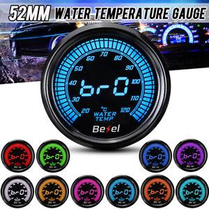 2'' 52mm Auto Car Water Temp Temperature Gauge Meter Digital LED Display 12V .-