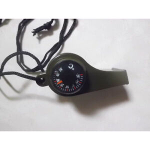 Outdoor 3 In1Camping Hiking Emergency Survival Whistle Compass Thermometer