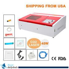 40W CO2 Laser Engraving Cutting Machine Engraver Cutter W/USB Port High Precise