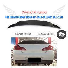 Carbon Fiber Rear Trunk Spoiler Wing Fit for Infiniti G37 09-13 G25 11-12 Sedan
