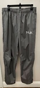 HUK Performance Fishing Men's Packable Rain Pants Charcoal X-Large NWT MSRP $99