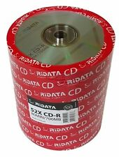 100 RITEK RIDATA 52X Blank CD-R CDR Branded Logo 700MB Media Disc