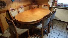 Esstisch Eiche hell mit 6 Stühlen