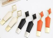 2pair Fashion Acrylic Charming Square gold Ear Stud Earrings Party Lady Women