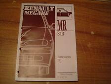MANUEL DE REPARATION RENAULT MEGANE SCENIC J 64 CARROSSERIE MR 313