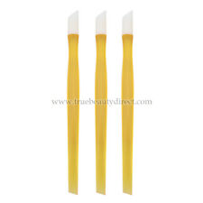 3 x ORANGE PLASTIC MANICURE STICKS FOR PROFESSIONAL NAILS TIDY CUTICLES SEE SHOP