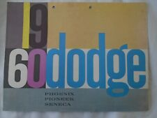 Dodge range brochure 1960 Export market large format Flemish text