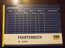 IDENA Fahrtenbuch DIN A6 quer 40 Blatt Formularbuch 314250 Kilometer Steuern