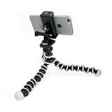 Flexible Tripod with Rotatable Smartphone Clamp. Use for Video Recording, phone