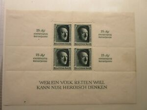 GERMANY  Scott   B106 sheet  MINT LIGHTLY HINGED  LotM  Cat $75