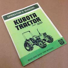 KUBOTA M4030 M5030 TRACTOR OPERATORS OWNERS MANUAL OPERATION MAINTENANCE ADJUST