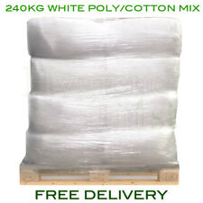 240kg Pallet Of White Poly/Cotton Mix Rags Cloths Wipers Wiping Cleaning Polish