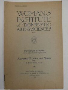 (2) 1922 Womans Institute of Domestic Arts & Sciences Embroidery Stitches 7A