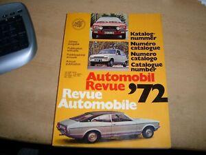 Katalog Jahresausgabe 1972 Automobil Revue 72