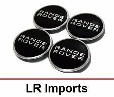 Range Rover Wheel Center Hub Caps - Black and Polished Chrome LR027409