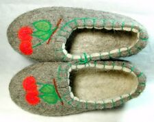 Valenki Traditional Russian Slippers Handmade 100% Wool Healthy Felt Shoes UK4.5