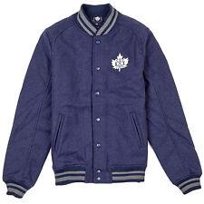 K1X Vintage Crest Universitaria Chaqueta Hombre Navy Blanco Gris 1153-1104-4401