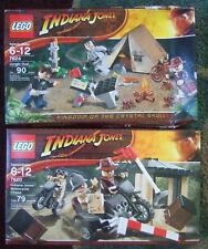 2 SEALED 2008 INDIANA JONES LEGO SETS #7624 JUNGLE DUEL & #7620 MOTORCYCLE CHASE