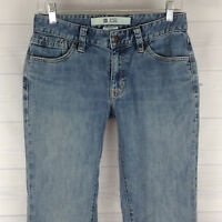 Gap Womens Size 6 Long Stretch Blue Light Wash Mid Rise Original Flare Jeans