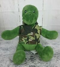 Build A Bear Trekkin Turtle Plush Stuffed Animal Removable Camouflage.