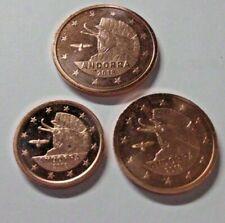 1 - 2 - 5 Euro Cent Andorra 2018 Münzen Europa frisch aus Rolle Stempelglanz