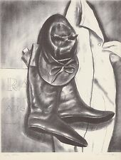 Lee Townsend's 1939 Lithograph JOCKEY CLOTHES Vintage WPA American Art Authentic