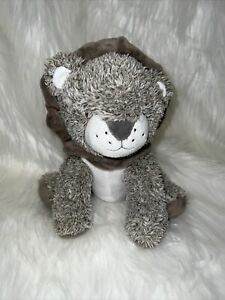Carters Brown Grey Sitting Lion Plush Baby Toy Stuffed Animal Lovey Soft