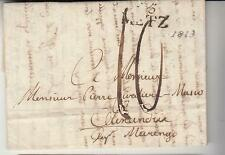 1813 France NAPOEL.TIME Entire THIONVILLE-ALEXANDRIE ITALY-DEP.Cancel METZ-i269