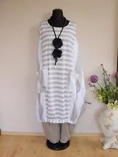 Moonshine Fashion° Weite Lagenlook Ballonhose Baumwolle ~ Taupe//Weiß ~ 2 3