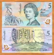 Australia, $5, ND (1992), Polymer, P-50a, QEII, AA-Prefix, UNC