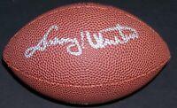 VERY RARE! Johnny Unitas Signed Autographed MINI Football PSA Photo LOA!